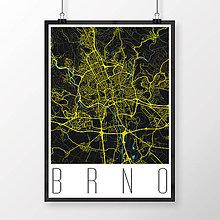 Obrazy - BRNO, moderné, čierne - 8529524_