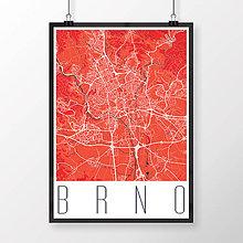 Obrazy - BRNO, moderné, červené - 8529579_