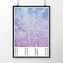 Obrazy - BRNO, moderné, modro-fialové - 8529633_