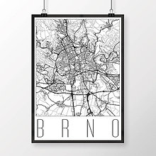 Obrazy - BRNO, moderné, biele - 8529812_