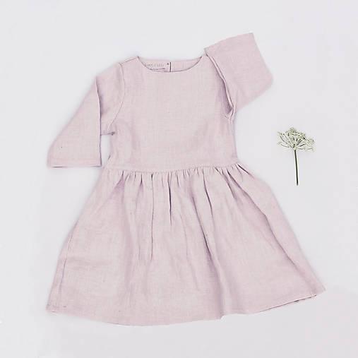 Detské oblečenie - Detské ľanové šaty - rôzne farby - 8527275_