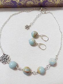 Sady šperkov - Jaspisová súprava - 8529354_