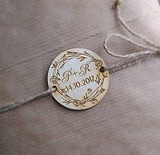 Darčeky pre svadobčanov - Svadobná magnetka + iniciály 2v1 -