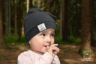 Detské čiapky - Uzlíková čiapka - 8529857_