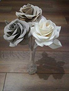 Dekorácie - Ruža z látky - 8527512_