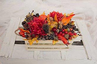 Dekorácie - Jesenná dekorácia veľká - 8529865_