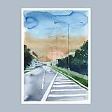 Obrazy - Před bouří - originál, akvarel a kvaš - 8527573_