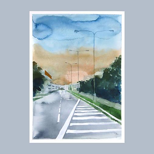 Před bouří - originál, akvarel a kvaš