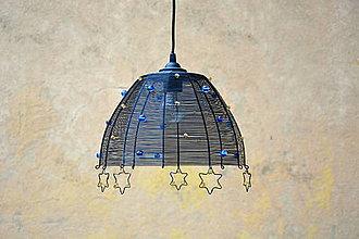Svietidlá a sviečky - Ve hvězdách. Drátovaný lustr. - 8532822_
