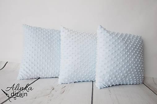Minky light blue vankúšik 35*35cm
