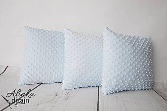 Textil - Minky light blue vankúšik 40*40cm - 8530482_