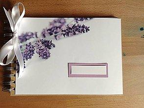 Papiernictvo - Levanduľová kniha hostí - 8532342_