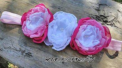 Detské doplnky - Čelenka s rôznymi odtieňmi ružovej - 8532565_