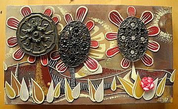 Obrazy - Bordové kvety - 8531443_