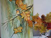 Obrazy - Volanie jesene (akvarel) - 8530853_
