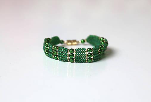 Zelený s perličkami   Katkakiska - SAShE.sk - Handmade Náramky 650465ce661