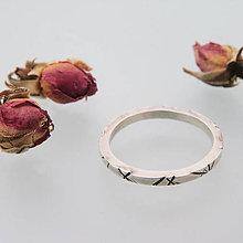 Prstene - Strieborná obrúčka Simply - 8532567_