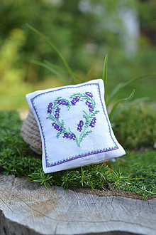 Úžitkový textil - Levanduľový vankúšik - 8531557_