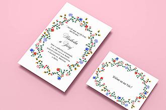 Papiernictvo - Svadobné oznámenie / Výšivka ♥ - 8532529_