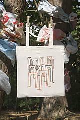 """Nákupné tašky - Eko taška s ručne vyšívaným vzorom """"Revolúcia Viaduktu"""" - 8531074_"""
