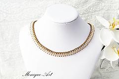 Náhrdelníky - Strieborno-hnedý náhrdelník - 8531258_