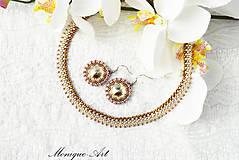 Sady šperkov - Strieborno-hnedá sada - 8531622_