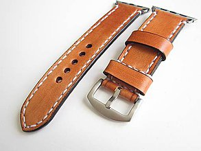 Náramky - Hnedý kožený remienok pre apple hodinky 42mm - 8531855  94ec6b54fb0