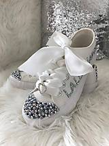 Obuv - Ručne zdobené svadobné tenisky strieborno modrá vášeň:) - 8533083_