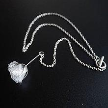 Náhrdelníky - Recy náhrdelník biely kvet - 8532638_