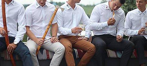 Košele - Ľudová košeľa - 8530402_
