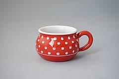 Nádoby - Buclák 5 espresso puntík - červený - 8532691_