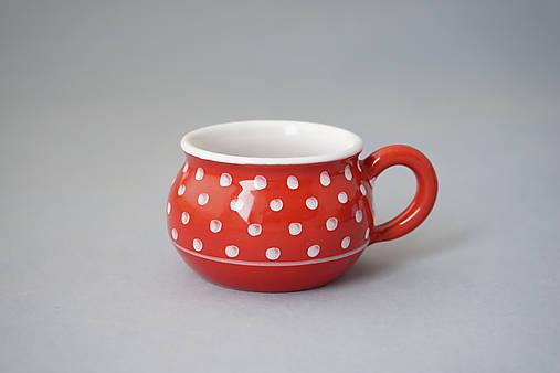 Buclák 5 espresso puntík - červený