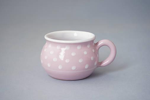 Buclák 5 espresso puntík - růžový
