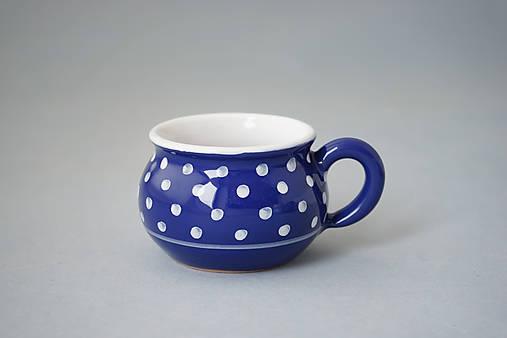 Buclák 5 espresso puntík - modrý