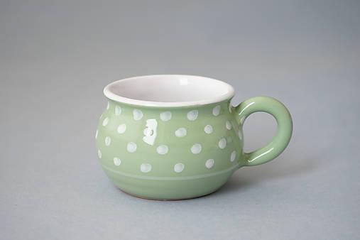 Buclák 5 espresso puntík - světle zelený