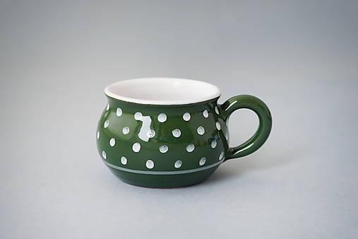 Buclák 5 espresso puntík - zelený