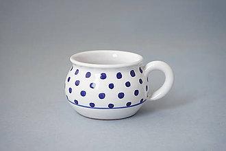 Nádoby - Buclák 5 espresso puntík - bílý - 8532669_