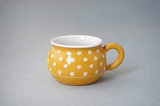 Nádoby - Buclák espresso puntík 5 žlutý - 8532681_