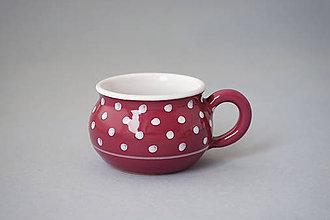 Nádoby - Buclák 5 espresso puntík - bordó - 8532716_