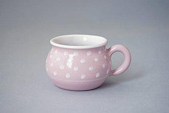Nádoby - Buclák espresso puntík 5 růžový - 8532739_