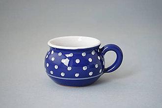 Nádoby - Buclák espresso puntík 5 modrý - 8532758_