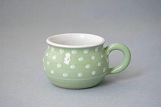 Nádoby - Buclák 5 espresso puntík - světle zelený - 8532766_
