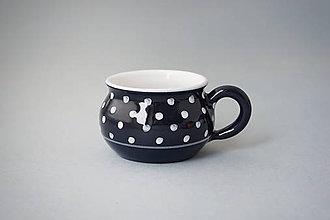 Nádoby - Buclák 5 espresso puntík - černý (tmavomodrý) - 8532779_