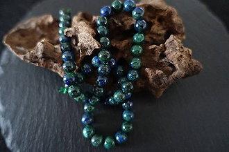 Minerály - Fenix (lapis lazuli a malachit) 8mm - 8533067_