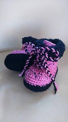 Topánočky - Háčkované čižmičky