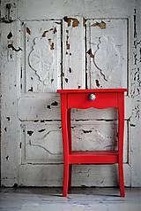 Nábytok - Vidiecky stolík v červenej - 8532398_