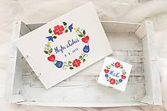 Papiernictvo - Kniha hostí a krabička z lásky k folklóru/ súprava - 8530242_
