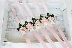 Papiernictvo - Svadobná súprava pudrová/ k svadobnému oznámeniu - 8530382_