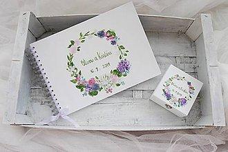 Papiernictvo - Kniha hostí a krabička nežné kvety/ súprava - 8530216_