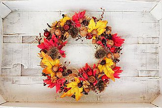 Dekorácie - Jesenný venček - 8531705_